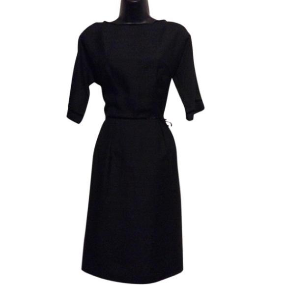 Vintage Dresses & Skirts - Vintage Black Office Dress